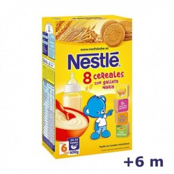 +6m NESTLE PAPILLA 8 CEREALES SABOR GALLETA 600 G