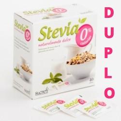 DUPLO Stevia edulcorante 0% calorías 40 sobres/caja