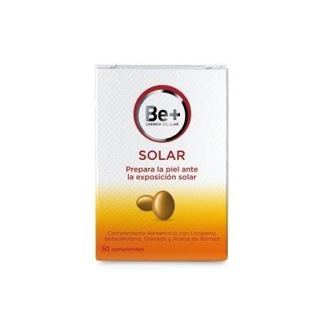 BE+ SOLAR COMPLEMENTO ALIMENTICIO 30 COMPRIMIDOS