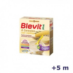+5m BLEVIT PLUS DUPLO 8 CEREALES CON NATILLAS 600 G