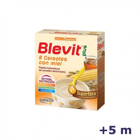 +5m BLEVIT PLUS SUPERFIBRA 8 CEREALES MIEL 600 G