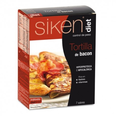 Siken Diet Tortilla de bacon 7 sobres