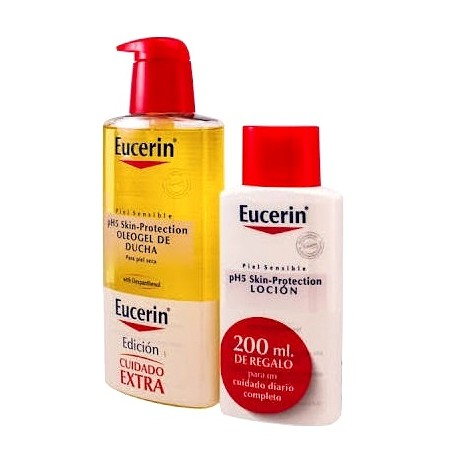 Eucerín Oleogel Ducha 400 ml + REGALO pH5 Skin-Protection Loción 200 ml