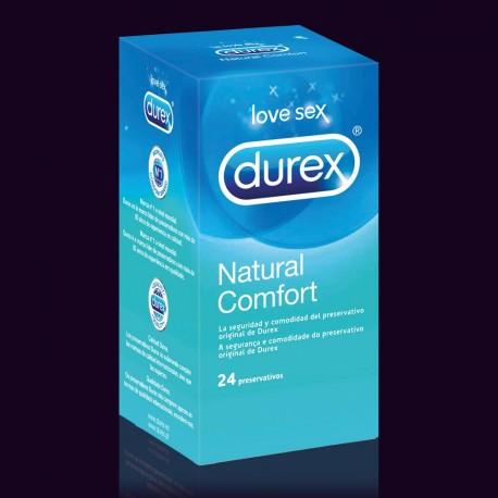 DUREX PRESERVATIVOS NATURAL PLUS 24 UNIDADES