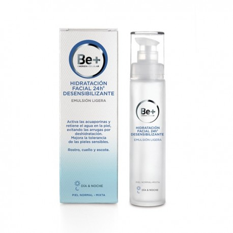 BE+ EMULSIÓN LIGERA PIEL NORMAL/MIXTA HIDRATANTE 24 H DESENSIBILIZANTE 50 ML