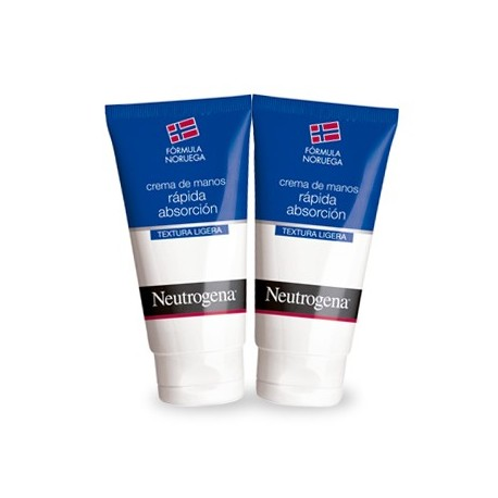 NEUTROGENA CREMA DE MANOS RAPIDA ABSORCION 75 ML DUPLO