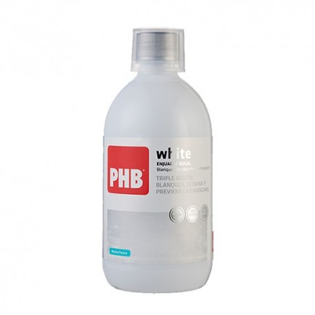 PHB ENJUAGUE BUCAL WHITE COLUTORIO 500 ML