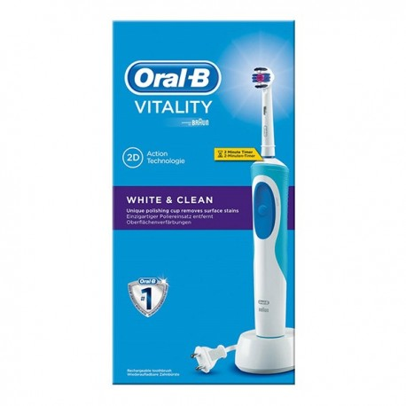 ORAL B CEPILLO ELECTRICO VITALITY WHITE RECARGABLE