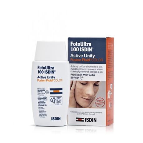 ISDIN FOTO ULTRA 100 ACTIVE UNIFY COLOR FUSION FLUID SPF100+ 50 ML